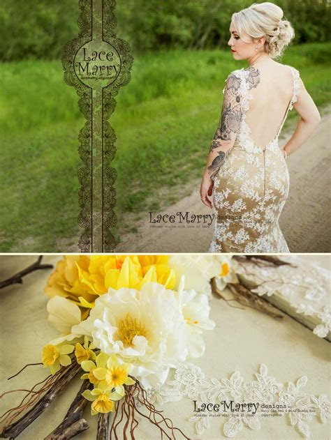 Extraordinary Champagne Wedding Dress With Chantilly Lace