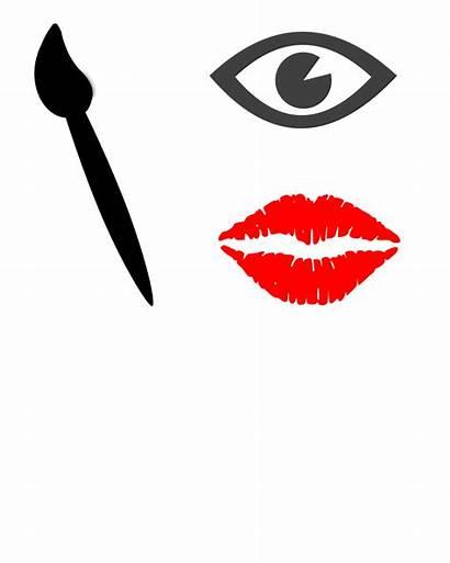 Silhouette Clipart Makeup Lipstick Organizer Transparent Cut