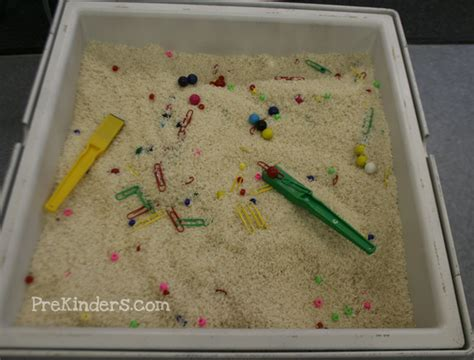 rice activities for preschoolers magnets in the sensory table prekinders 410