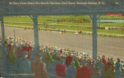 Postcard Saratoga Race Track Saratoga Springs New York in ...
