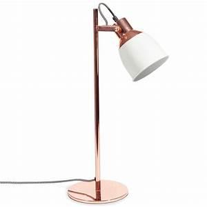 Lampe Rose Gold : lampe bicolore en m tal cuivr h 50 cm rose gold pinterest slaapkamer slaapkamer tips and ~ Teatrodelosmanantiales.com Idées de Décoration
