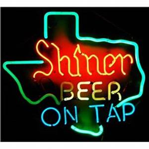 Shiner Beer Tap Texas Neon