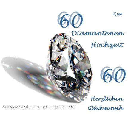 vorlage karte zur diamantenen hochzeit basteln basteln