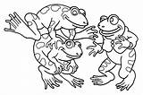 Coloring Frogs Pages Funny Printable Children Animals Justcolor sketch template