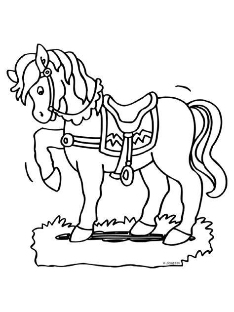 Kleurplaat Paarden Uitprinten by Kleurplaat Paard Zadel Sierlijk Kleurplaten Nl