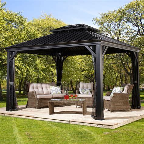 pavillon mit polycarbonat dach pavillon messina g 228 rtner p 246 tschke