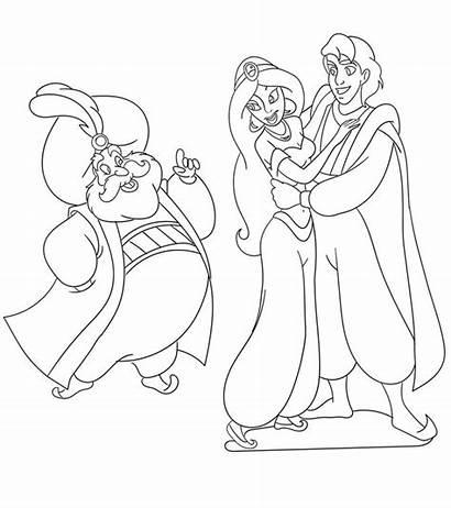 Jasmine Coloring Princess Printable Disney Aladdin Adults