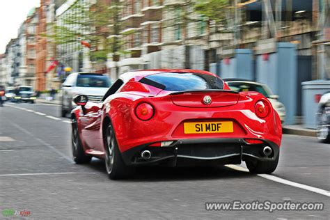 Alfa Romeo 4c Spotted In London, United Kingdom On 04/06/2015