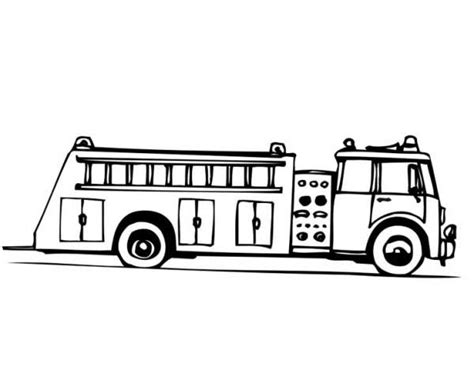 Fire Truck Coloring Pages Printable Sketch Coloring Page