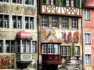 Fenetre En Saillie : images gratuites maison restaurant fa ade art maisons suisse schaffhausen fen tre en ~ Louise-bijoux.com Idées de Décoration