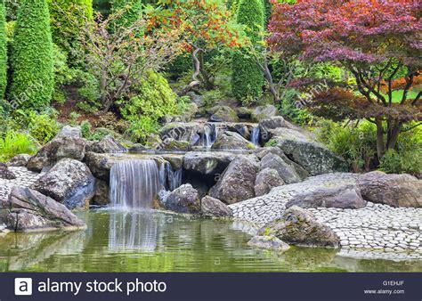 Japanische Garten In Bonn by Cascade Waterfall In Japanese Garden In Bonn Germany