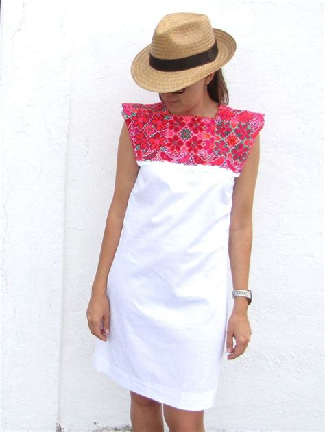 Mano Dress mexican dress with vintage luxe embroidery chiapas