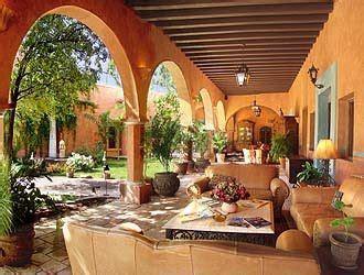 mexican hacienda style courtyard fiesta  la mexicana