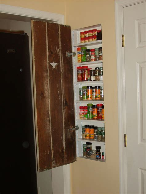 In Wall Spice Rack by Use Of Space Between Studs In Wall Spice Rack For
