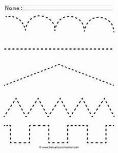 Tracing Lines Pre-K - Kindergarten Worksheet | Lesson Planet  Tracing