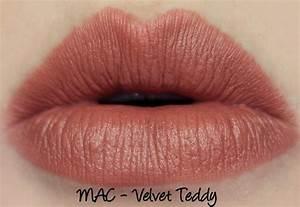 MAC Lipsticks - Velvet Teddy, Kinda Sexy and Diva Swatches ...