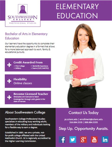 elementary education southwestern college professional