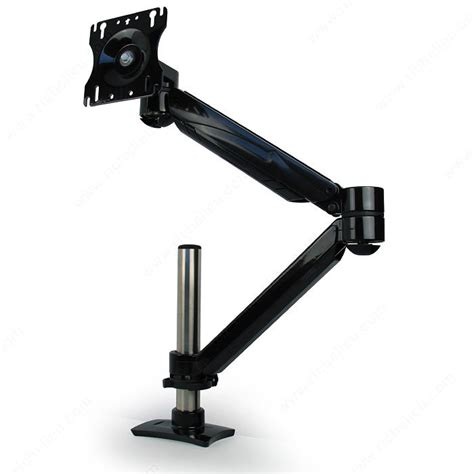 single arm lcd flat panel desk mount single screen