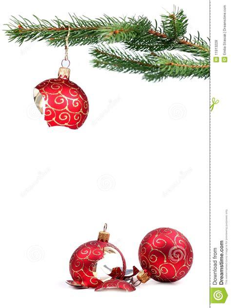 broken christmas decoration stock photo image