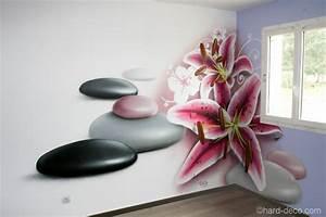 decoration murale chambre zen meilleur de deco murale With chambre bébé design avec fleur lys
