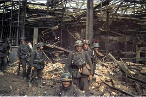the siege of stalingrad war ii in color german assault team in stalingrad