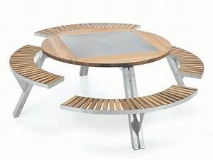 Table De Jardin En Bois Avec Banc Integre. table de jardin en bois ...