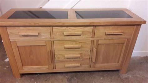Granite Sideboard by Harvey S Solid Oak Sideboard With Black Granite Inserts