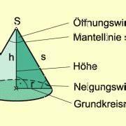 Kegel Höhe Berechnen : kreiskegel in mathematik sch lerlexikon lernhelfer ~ Themetempest.com Abrechnung