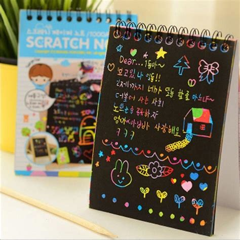 diy doodling  scratch painting book kids children ideal educational toy book colour coloring
