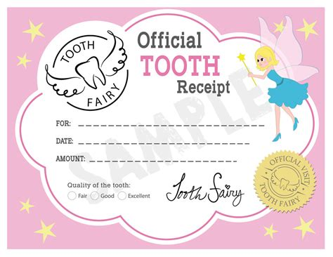 tooth fairy letter printable hunthankkco