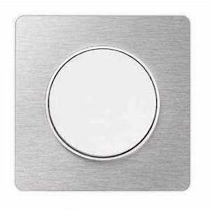 Plaque Alu Brossé : schneider s520802j odace touch plaque aluminium bross ~ Edinachiropracticcenter.com Idées de Décoration