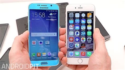 iphone vs galaxy samsung galaxy s6 vs iphone 6 comparaci 243 n androidpit
