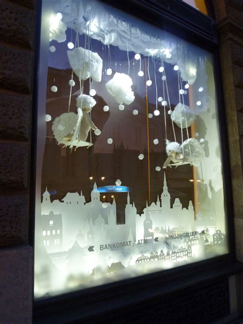 interactive christmas window display  wellen prague