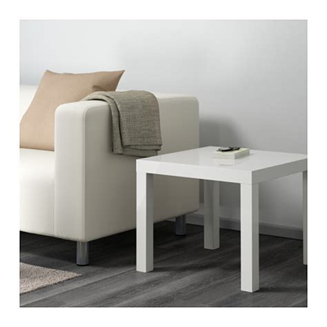 lack side table high gloss white 55x55 cm ikea