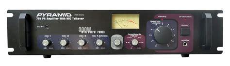 pyramid pa  watt pa amplifier  output mic