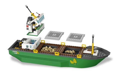 Lego Cargo Boat Sets by Lego City Harbor Review 4645