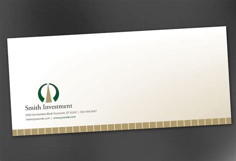 envelope design envelope template for investment and professional firms