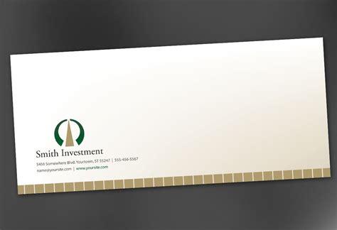 envelope design template envelope template for investment and professional firms order custom envelope design