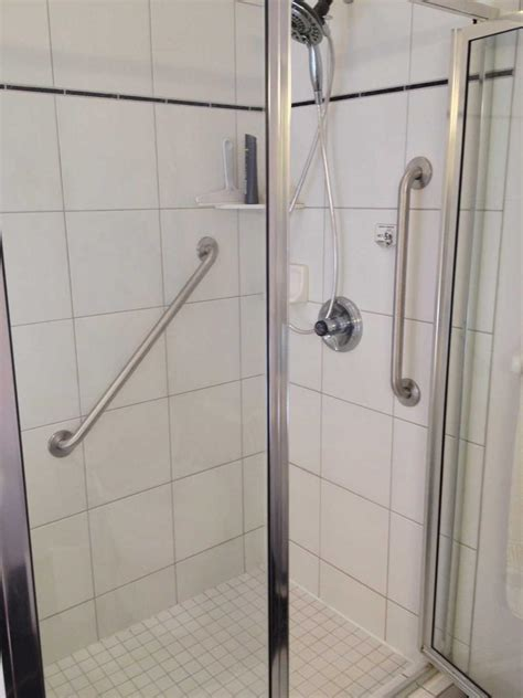 mirror framing ideas grab bars ada shower stall home ideas collection ada
