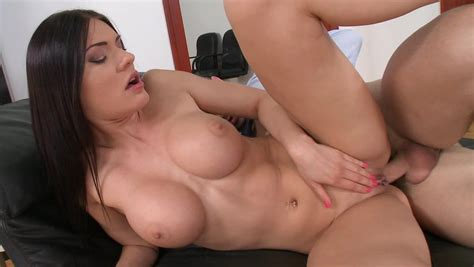 Dark Haired Russian Model With Fake Boobies Wants Hot Anal
