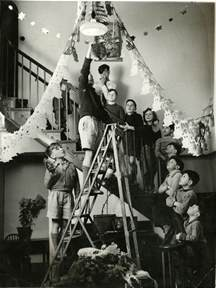 father christmas nativity scenes and young people christmas photos 1930s 60s the children