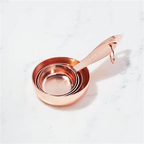 copper measuring cups set   crate  barrel
