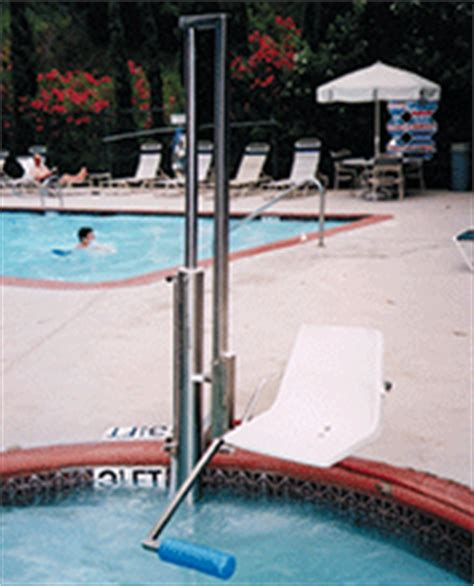 hydraulic swimming pool chair lifts aquatic access above