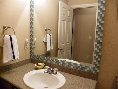 Tutorial For Creating This Glass Tile Frame For A Bathroom