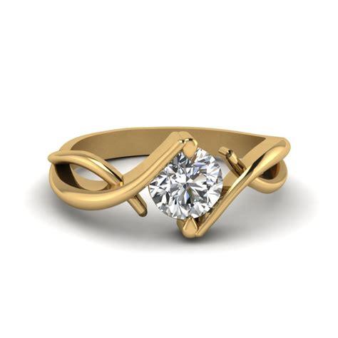 beautiful twist single diamond engagement ring in 14k white gold fascinating diamonds