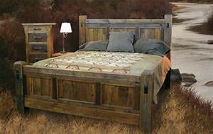 Handcrafted reclaimed wood bed and bedroom furnture for Reclaimed wood bedroom furniture