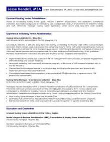 cover letter exles for nursing home administrators