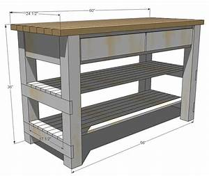 Woodwork, Wood, Kitchen, Island, Plans, Pdf, Plans