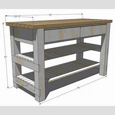 Ana White  Build Michaela's Kitchen Island  Diy Projects