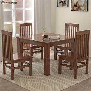 Bree, 4, Seater, Wooden, Dining, Table, -, Brown